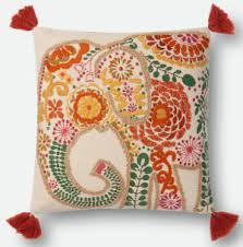 Loloi Pillows Dhurrie Style Pillow Elephant Rug At Rug Studio