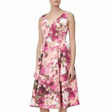apricot cream multi adrianna papell knee length dresses floral