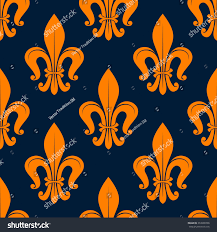classic floral pattern seamless orange stock vector