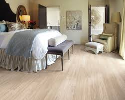 Bedroom Comfortable Bed With Smooth Flooring Cozy Shaw Laminate Flooring For Exciting Interior Floor