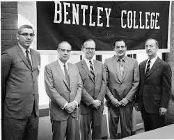 bentley college president gregory adamian and gathered for bentley college