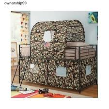 Bed Tents For Bunk Beds Boys Loft Bed Camouflage Army Fort Tent Bunk Beds