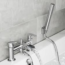 bathtub with shower head tubethevote cela waterfall bath shower mixer tap with hand held head