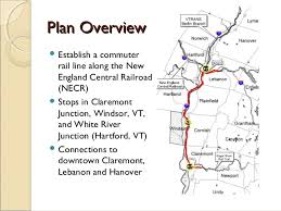 new england central railroad map connecticut river valley commuter rail project