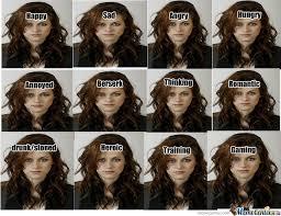 Kristen Stewart Meme - kristen stewart s girl from twilight emotions by anton123 meme center