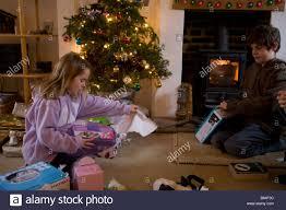 wrapping christmas presents uk stock photos u0026 wrapping christmas
