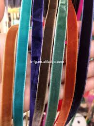 velvet ribbon wholesale wholesale single side without elastic velvet velvet trim