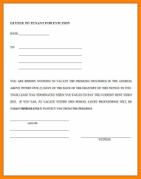 eviction warning letter example of eviction notice to