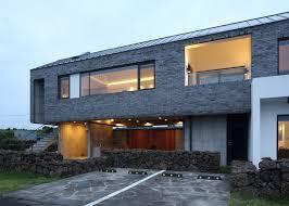 Studio Z Home Design Z Lab Uses Volcanic Stone For Jeju Island Holiday Home