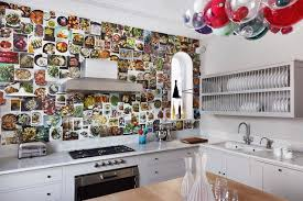 kitchen wallpaper ideas white units diy wallpaper modern kitchen ideas houseandgarden
