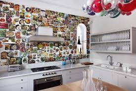 wallpaper in kitchen ideas white units diy wallpaper modern kitchen ideas houseandgarden