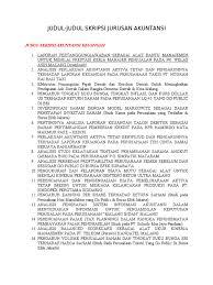 skripsi akuntansi ekonomi judul judul skripsi jurusan akuntansi