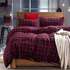 Cotton Queen Duvet Cover Amazon Com Eddie Bauer 210707 Mountain Plaid Duvet Cover Set
