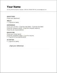 performa of resume basic resume template 51 free samples examples