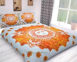 Sun And Moon Bedding Psychedelic Celestial Sun Moon Mandala Donna Cover Indian