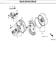 2007 honda fourtrax recon 250 es trx250tm rear brake drum parts