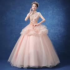 luxury floral light pink flower collar ruffle princess medieval