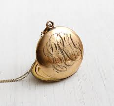 monogrammed locket antique monogrammed locket necklace vintage early 1900s edwardian