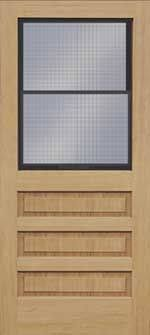 Vented Exterior Door I 4 1 2 Lite Vinyl Clad Prehung Smooth Fiberglass Door 36 X 80