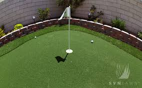 Building A Backyard Putting Green Putting Greens Gallery Synlawn Golf