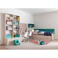 biblioth ue avec bureau chambre haut de gamme pour 2 enfants signée asoral