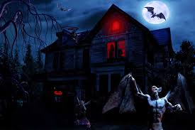 halloween background ghosts halloween scary horror nights scarecrow pumpkin haunted house hd
