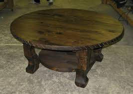 round wood coffee table rustic rustic round coffee table rawhide round western coffee table sitez co
