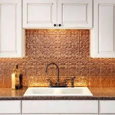 fasade kitchen backsplash panels fasade traditional style 1 polished copper backsplash 18 inch x