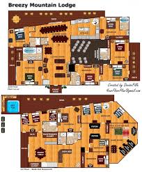 mountain lodge floor plans breezy mountain lodge a pigeon forge cabin rental