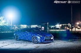 nissan gtr wrapped tron nissan gt r by restyleit gtspirit