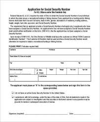 social security application form samples 7 free documents in pdf