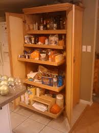 Free Standing Kitchen Pantry Furniture Wooden Storage Cabinets Attractive Home Design