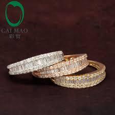 free wedding band free shipping 14k gold diamond wedding band cut diamonds