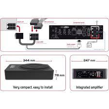 caisson basse sous siege subwoofer actif pour auto 800 w caliber audio technology bc110usp