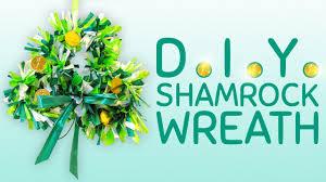 Shamrock Decorations Home How To Make A Shamrock Wreath St Patrick U0027s Day Decoration Youtube