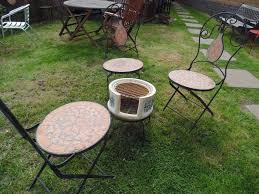 Very Garden Furniture Cast Iron Garden Set 3 Very Heavy Cast Iron And Ceramic Chairs And