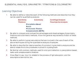 Applications Of Colorimetry In Analytical Chemistry What Is The Elemental Composition Ppt