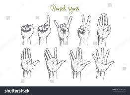 vector hand drawn hand signs concept stock vector 507817276