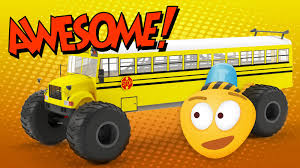 monster truck videos for toddlers monster truck bus construction game educational cartoon