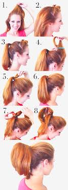 hair with poof on top the perfect ponytail perky pony