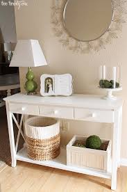 Table For Entryway Neutral Entryway Table Vignette