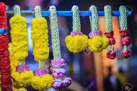 hindu garland colorful marigold flower garlands for hindu religious ceremony