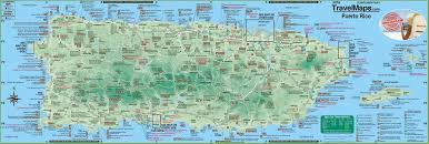 Where Is Puerto Rico On A Map by Large Detailed Tourist Map Of Puerto Rico With Cities And Towns