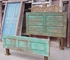 How To Make A Door Headboard by Make A Bed Headboard Or Footboard Out Of An Old Door Turned