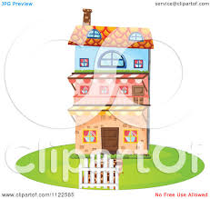 Three Story House by Cartoon Of A Three Story House Royalty Free Vector Clipart By