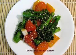 recette de cuisine vietnamienne tous les goûts sont chez barbara légumes sautés à la vietnamienne