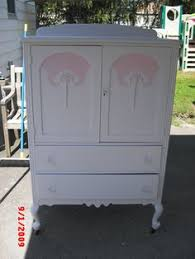 vintage armoire furniture shabby chic painted dresser wardrobe