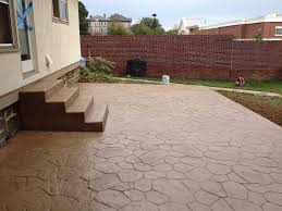 Concrete Backyard Ideas Triyae Com U003d Backyard Stamped Concrete Patio Ideas Various