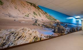 wall murals fluorescent gallery crystal cove beach wall mural panorama