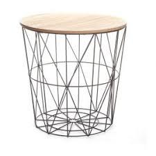 table bout de canap bout de canapé métal scandinave gris 39 5x41cm